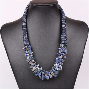 Stone Bib Necklace - Variety of Colors!