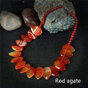 Natural Stone Waterdrop Necklace