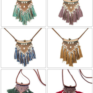 Tassel Pendant Necklace (Multiple Colors)