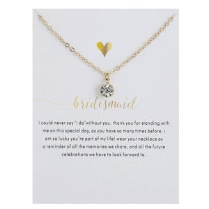 Multifaceted Crystal Bridesmaid Necklace