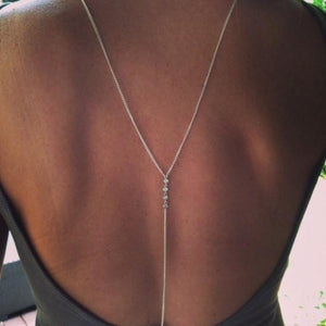 Trendy Crystal Back Necklace