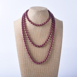 Long Pearl Necklace (Variety of Colors)