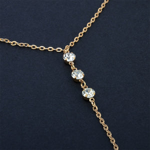 Long Crystal Back Necklace