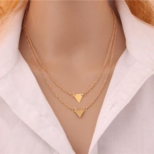 Multi-layer Gold Geometric Necklace