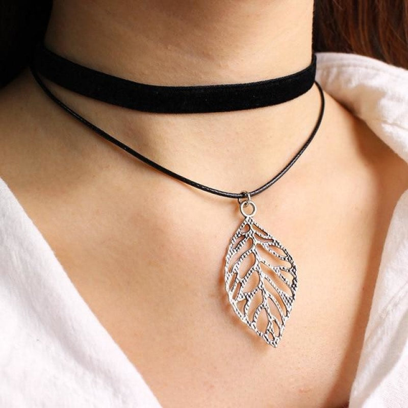 Double Layer Choker Necklace - Multiple Styles