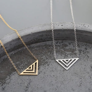 Hollow Triangle Necklaces
