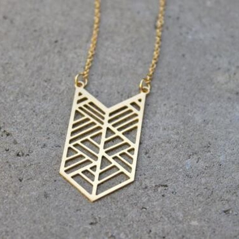 Geometric Arrow Necklace