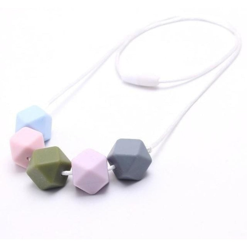 Geometric Silicone Bead Necklace