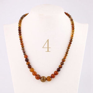 Natural Agate Stone Beads - Variety of Colors