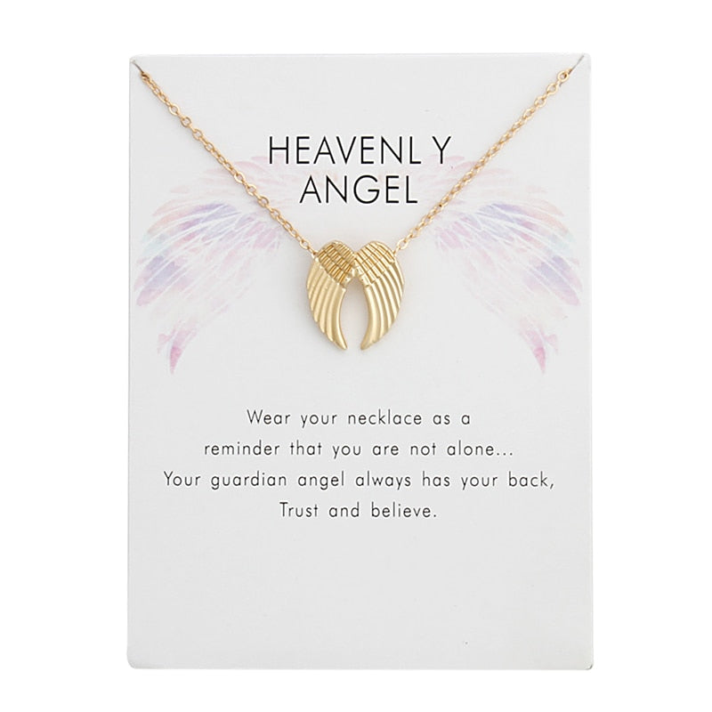 Heavenly Angel Wing Necklace