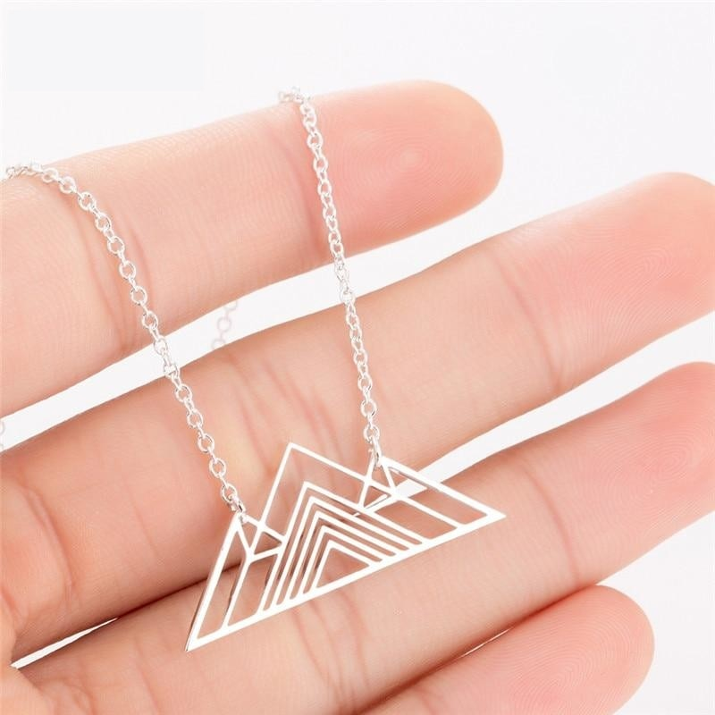 Mountain Charm Geometric Necklace