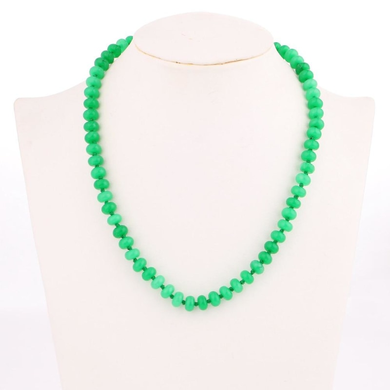 Vibrant Green Natural Stone Necklace