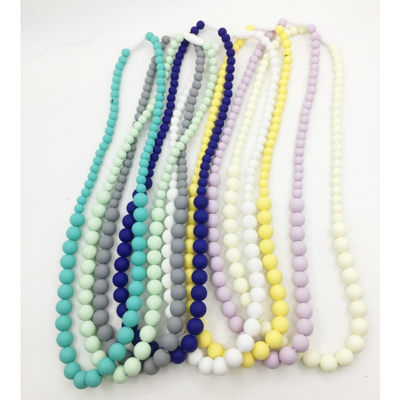 Solid Silicone Beaded Necklace