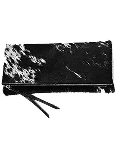 anastasia clutch in black natural hair calf