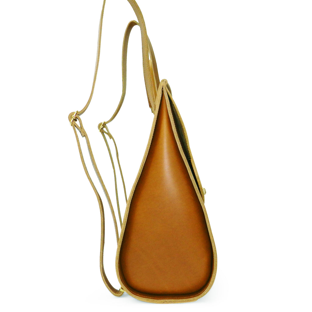 Amelia Backpack in Sunflower Oil Tanned Cowhide Leather
