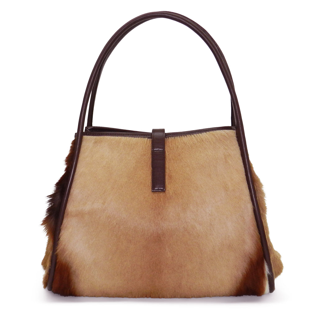 Edie Tote in Natural Springbok- Email for Availability