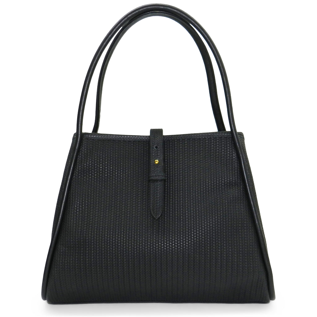 Edie Tote in Black Woven Leather- 1 left!