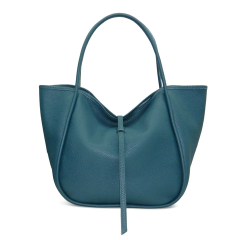 Ellis Hobo Tote in Deep Teal Buffalo Cowhide