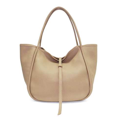 Ellis Hobo Tote in Cappuccino Buffalo Cowhide