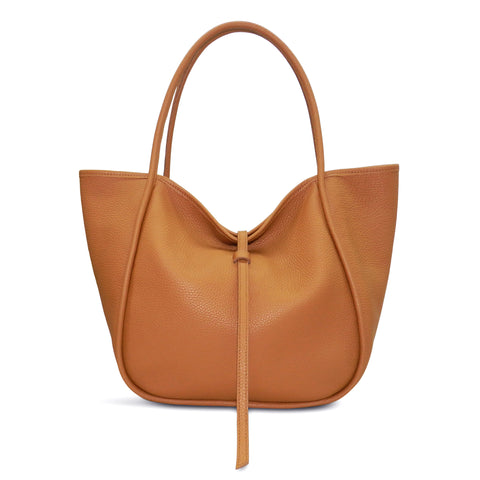 Ellis Hobo Tote in Miel Buffalo Cowhide