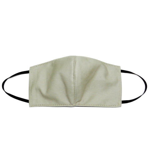 Women's Shaped Mask with Filter Pocket in Cream Cotton Twill