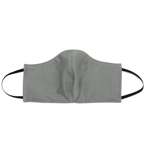 Men's Shaped Mask with Filter Pocket in Grey Cotton Twill