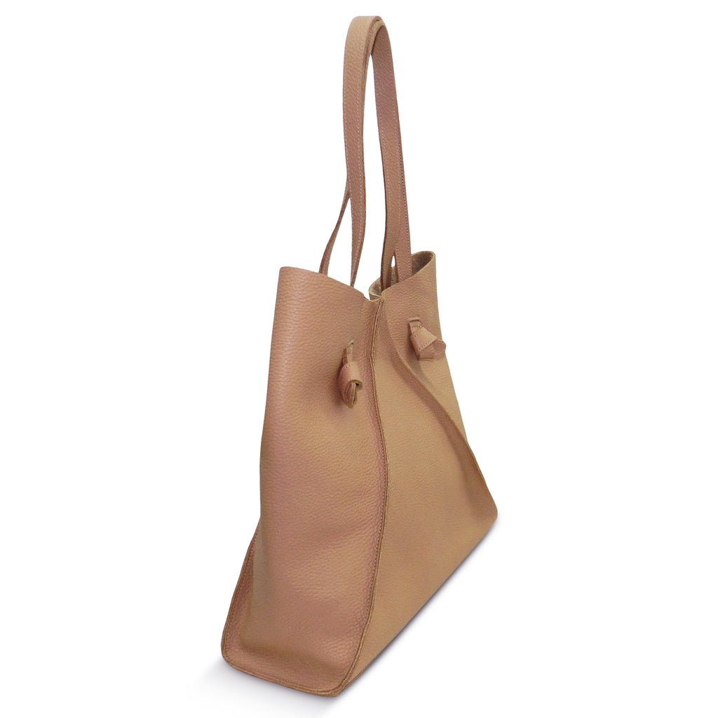 Gemma North South Tote in Gaucho Buffalo Cowhide