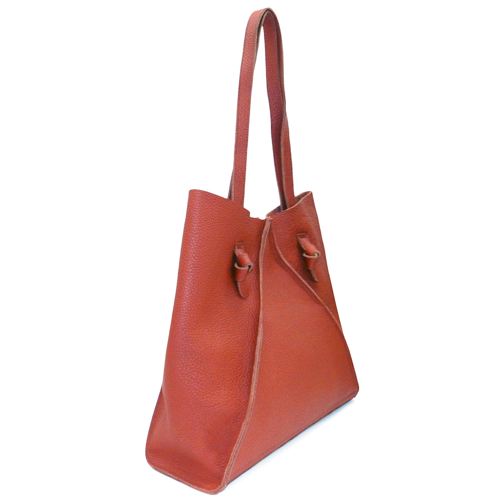 Gemma North South Tote in Rust Buffalo Cowhide