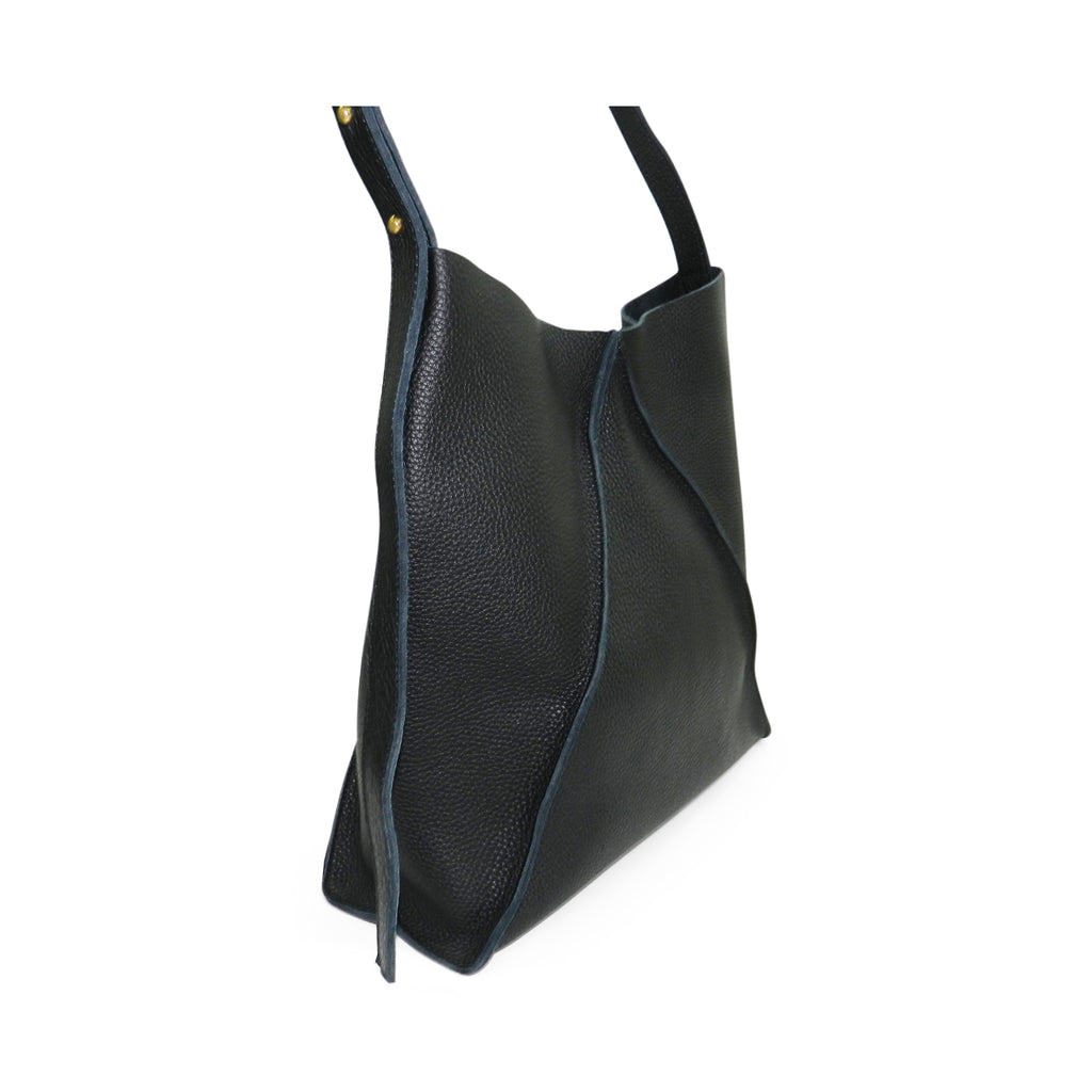 Jasper Shoulder Crossbody in Black Buffalo Cowhide