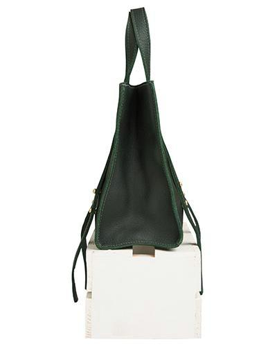 keira convertible strap tote in loden buffalo leather