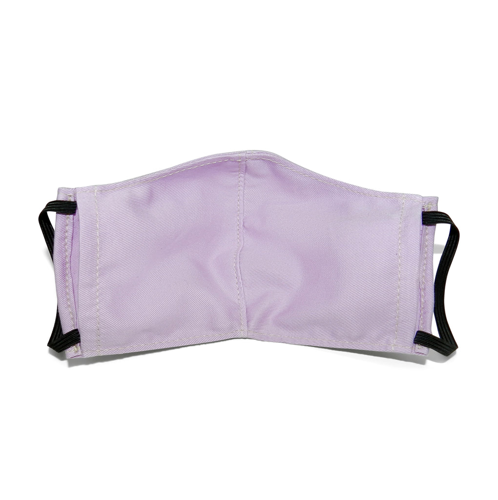 Men's Shaped Mask with Filter Pocket in Lavender Cotton Twill