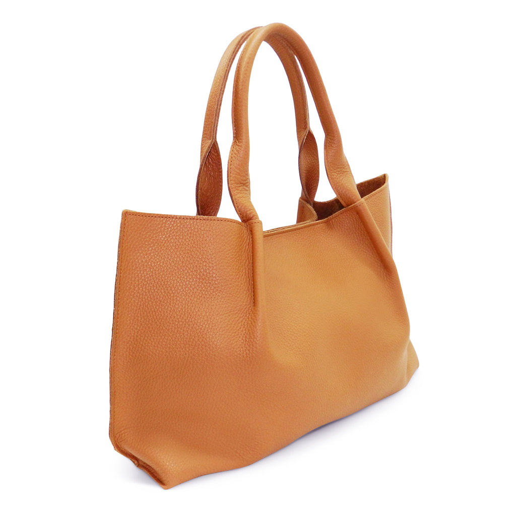 Isabel East West Tote in Miel Buffalo Cowhide