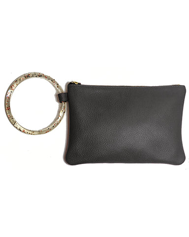 murphy bracelet clutch with sparkle resin ring in black buffalo