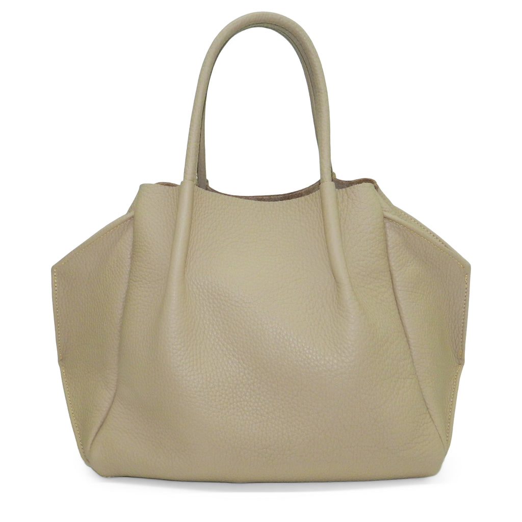 zoe tote in cappuccino buffalo cowhide leather- restocked and ready to ship!