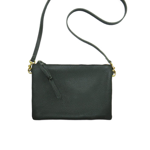 Queenie Crossbody in Forest Pebble Cowhide