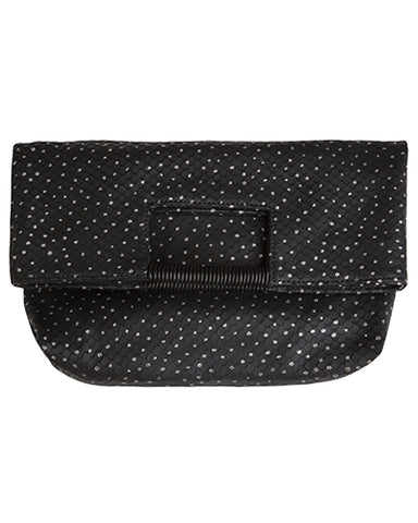 reid wrap handle tote in silver dotty leather