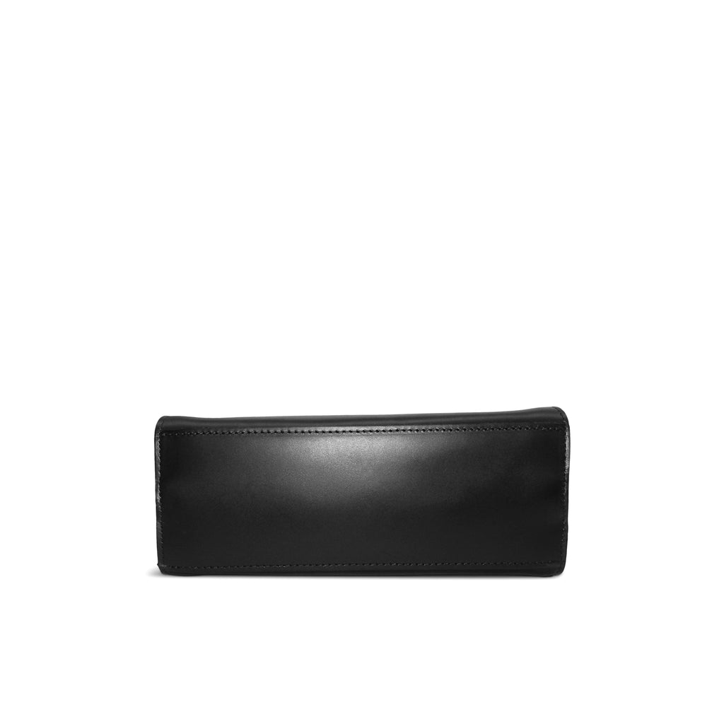 Ronnie Top Handle Crossbody in Black Oil Tanned Cowhide