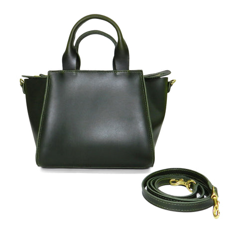 Ronnie Top Handle Crossbody in Loden Oil Tanned Cowhide