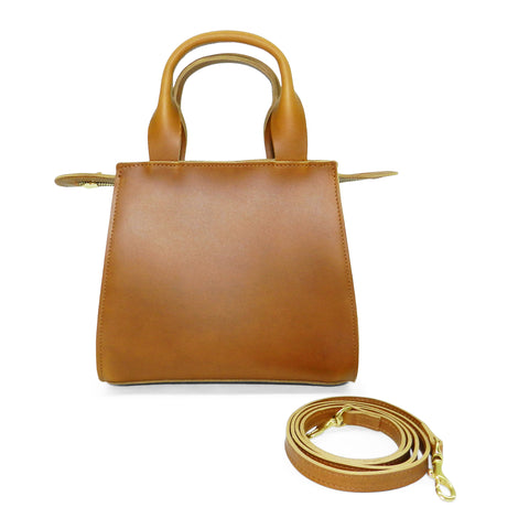 Ronnie Top Handle Crossbody in Sunflower Oil Tanned Cowhide