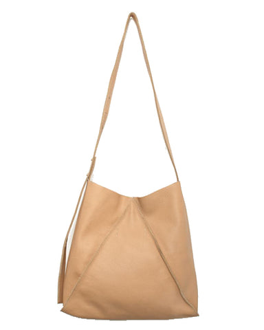 jasper shoulder bag in cappuccino buffalo cow leather
