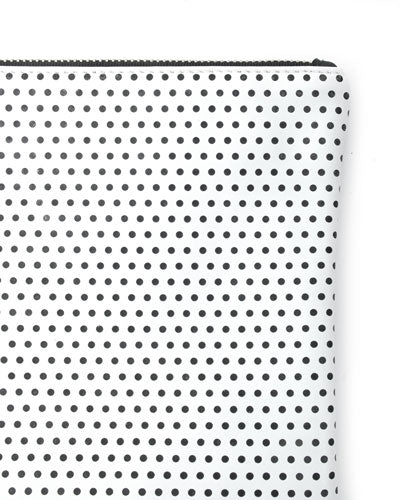 murphy bracelet clutch with black ring in polka dot cow leather