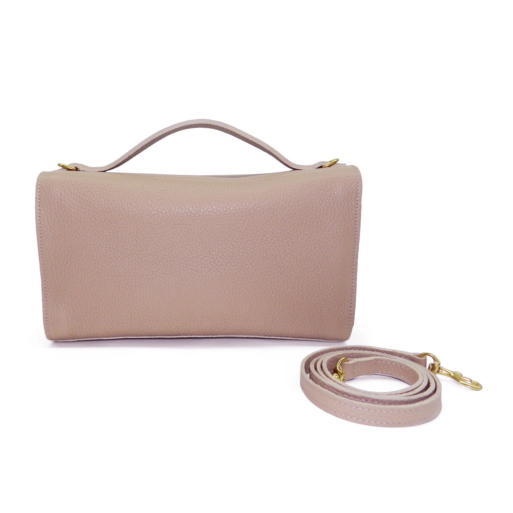 Sadie Satchel in Cappuccino Buffalo Leather