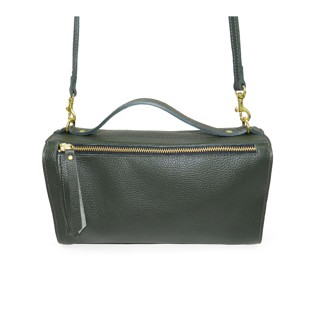 Sadie Satchel in Forest Pebble Leather