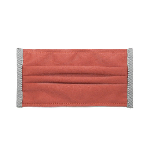 Pleated Cotton Twill Mask in Salmon