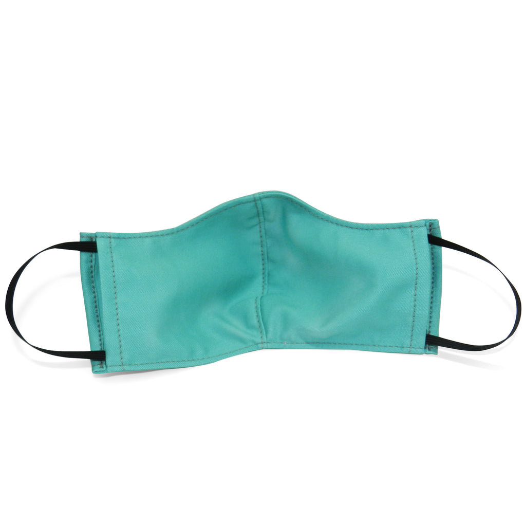 Men's Shaped Mask with Filter Pocket in Teal Cotton Twill