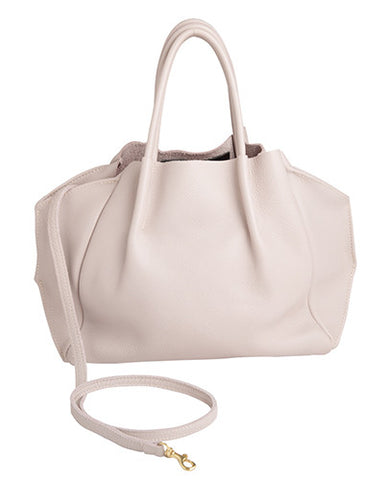zoe tote in buff pebble cow leather
