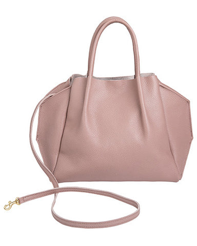 zoe tote in rosy pebble cow leather