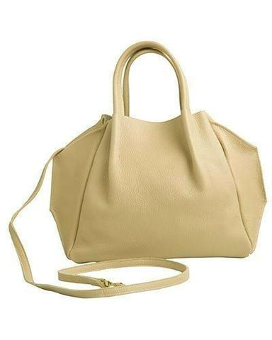 zoe tote in sand pebble cow leather