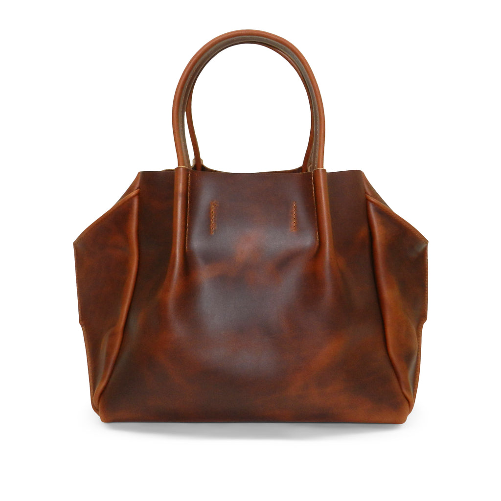 Zoe Tote in Antique Tan Oil Tanned Cowhide
