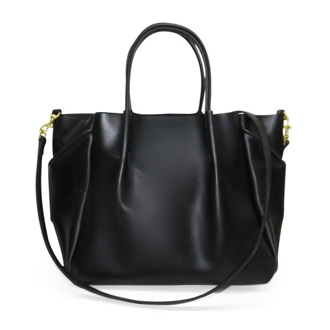 Zoe Tote in Black Oil Tanned Cowhide